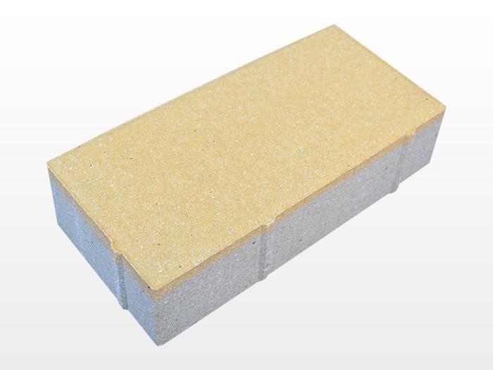 河北深黄透水砖